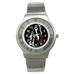 Street cats Stainless Steel Watch