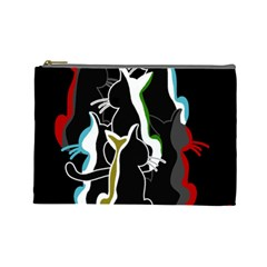 Street cats Cosmetic Bag (Large)