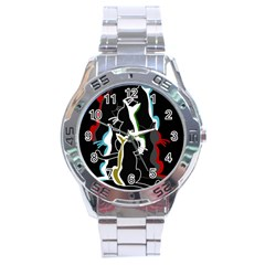 Street cats Stainless Steel Analogue Watch