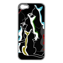 Street cats Apple iPhone 5 Case (Silver)