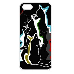 Street cats Apple iPhone 5 Seamless Case (White)