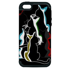 Street cats Apple iPhone 5 Hardshell Case (PC+Silicone)