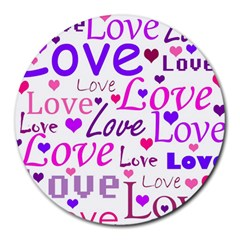 Love pattern Round Mousepads