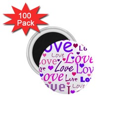 Love pattern 1.75  Magnets (100 pack)