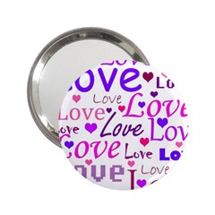 Love pattern 2.25  Handbag Mirrors