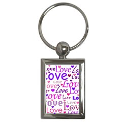 Love pattern Key Chains (Rectangle)