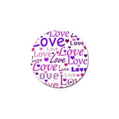 Love pattern Golf Ball Marker