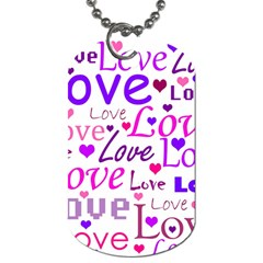Love pattern Dog Tag (Two Sides)