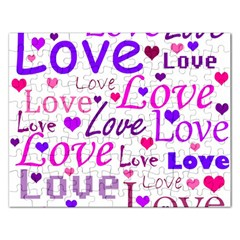 Love pattern Rectangular Jigsaw Puzzl