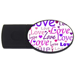 Love pattern USB Flash Drive Oval (4 GB)