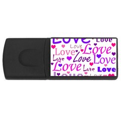 Love pattern USB Flash Drive Rectangular (4 GB)