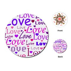 Love pattern Playing Cards (Round)