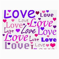 Love pattern Large Glasses Cloth (2-Side)