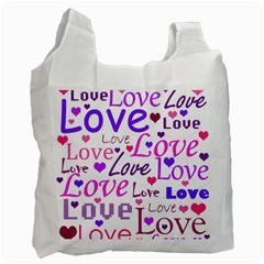 Love pattern Recycle Bag (Two Side)