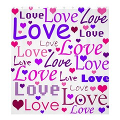 Love pattern Shower Curtain 66  x 72  (Large)