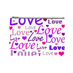 Love pattern Cosmetic Bag (Large)
