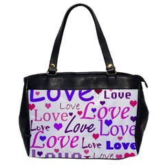 Love pattern Office Handbags
