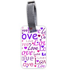 Love pattern Luggage Tags (One Side)