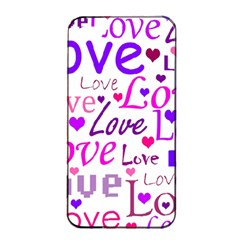 Love pattern Apple iPhone 4/4s Seamless Case (Black)