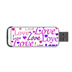 Love pattern Portable USB Flash (Two Sides)
