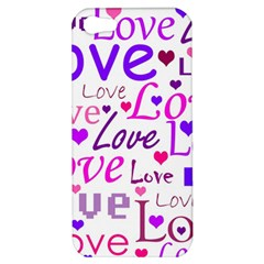 Love pattern Apple iPhone 5 Hardshell Case