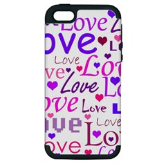 Love pattern Apple iPhone 5 Hardshell Case (PC+Silicone)