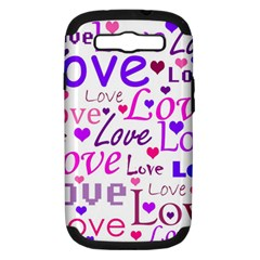 Love pattern Samsung Galaxy S III Hardshell Case (PC+Silicone)
