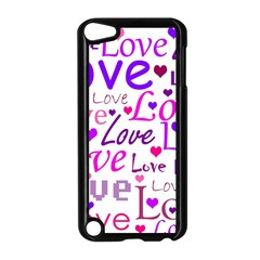 Love pattern Apple iPod Touch 5 Case (Black)