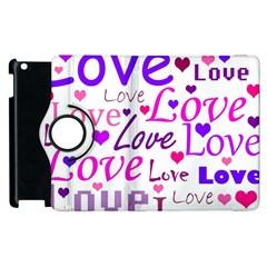 Love pattern Apple iPad 3/4 Flip 360 Case