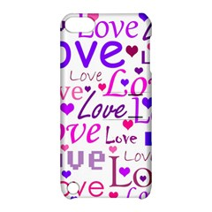 Love pattern Apple iPod Touch 5 Hardshell Case with Stand