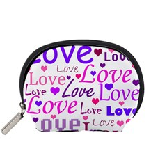 Love pattern Accessory Pouches (Small)