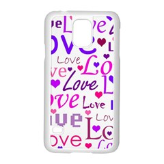 Love pattern Samsung Galaxy S5 Case (White)