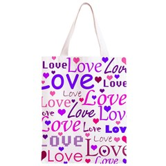 Love pattern Classic Light Tote Bag