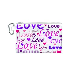 Love pattern Canvas Cosmetic Bag (S)