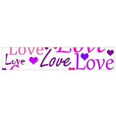 Love pattern Flano Scarf (Small)