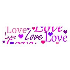 Love pattern Satin Scarf (Oblong)