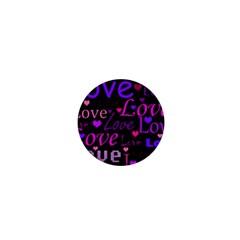 Love pattern 2 1  Mini Magnets