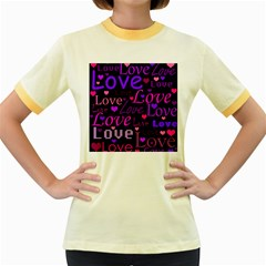 Love pattern 2 Women s Fitted Ringer T-Shirts