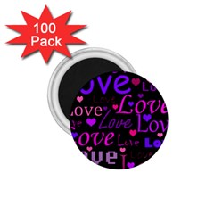 Love pattern 2 1.75  Magnets (100 pack)