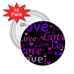 Love pattern 2 2.25  Buttons (10 pack)