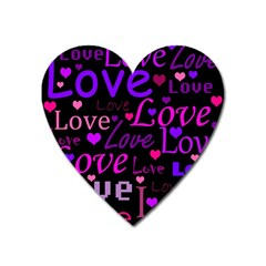 Love pattern 2 Heart Magnet
