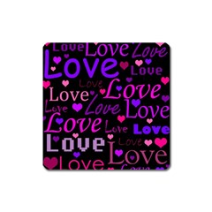 Love pattern 2 Square Magnet