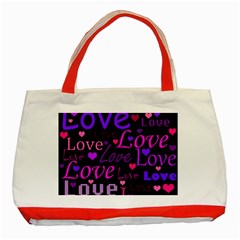 Love pattern 2 Classic Tote Bag (Red)