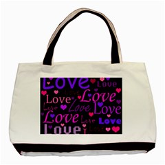 Love pattern 2 Basic Tote Bag (Two Sides)