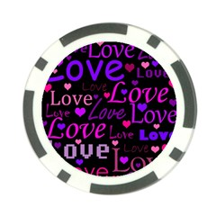 Love pattern 2 Poker Chip Card Guards