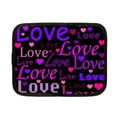 Love pattern 2 Netbook Case (Small)