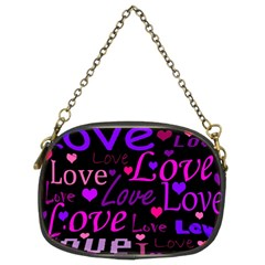 Love pattern 2 Chain Purses (Two Sides)