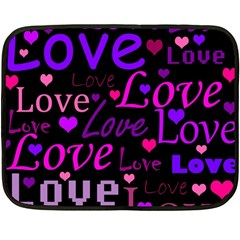 Love pattern 2 Double Sided Fleece Blanket (Mini)