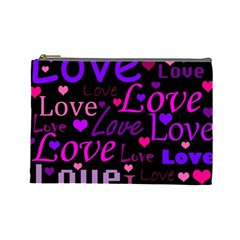 Love pattern 2 Cosmetic Bag (Large)