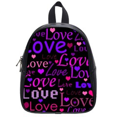 Love pattern 2 School Bags (Small)